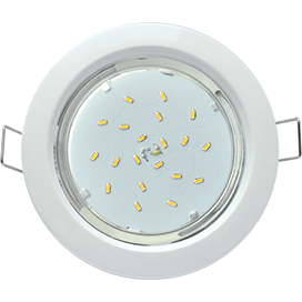 Cветильник Ecola GX53 H4 Downlight without reflector_white 38x106